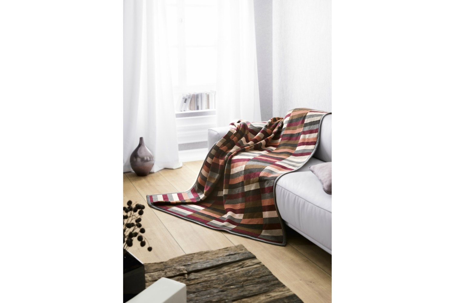 Biederlack Visiona Cotton Throw |Mondrian