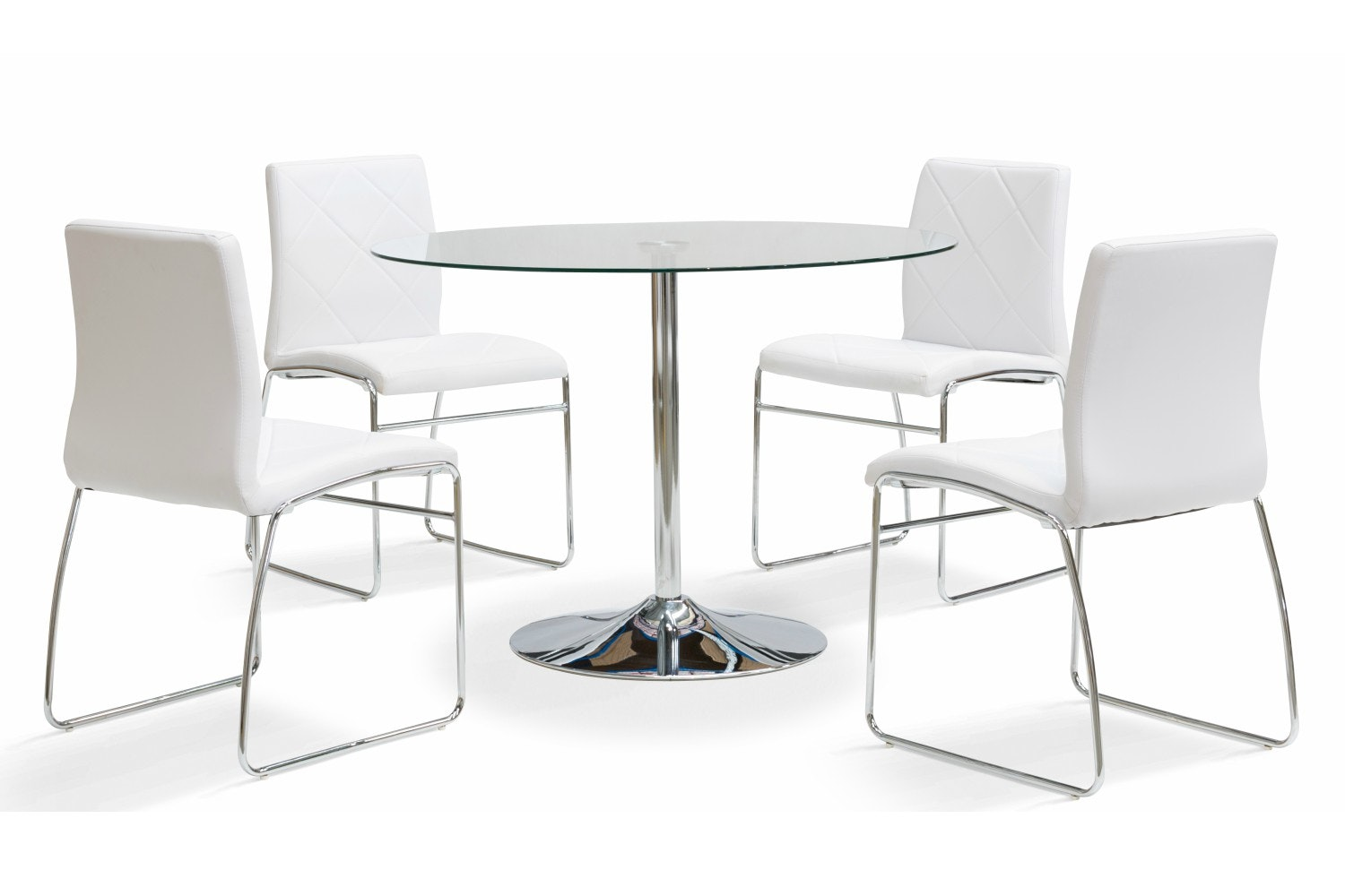 Oregon 5-Piece Dining Set with Halo Dining Chair