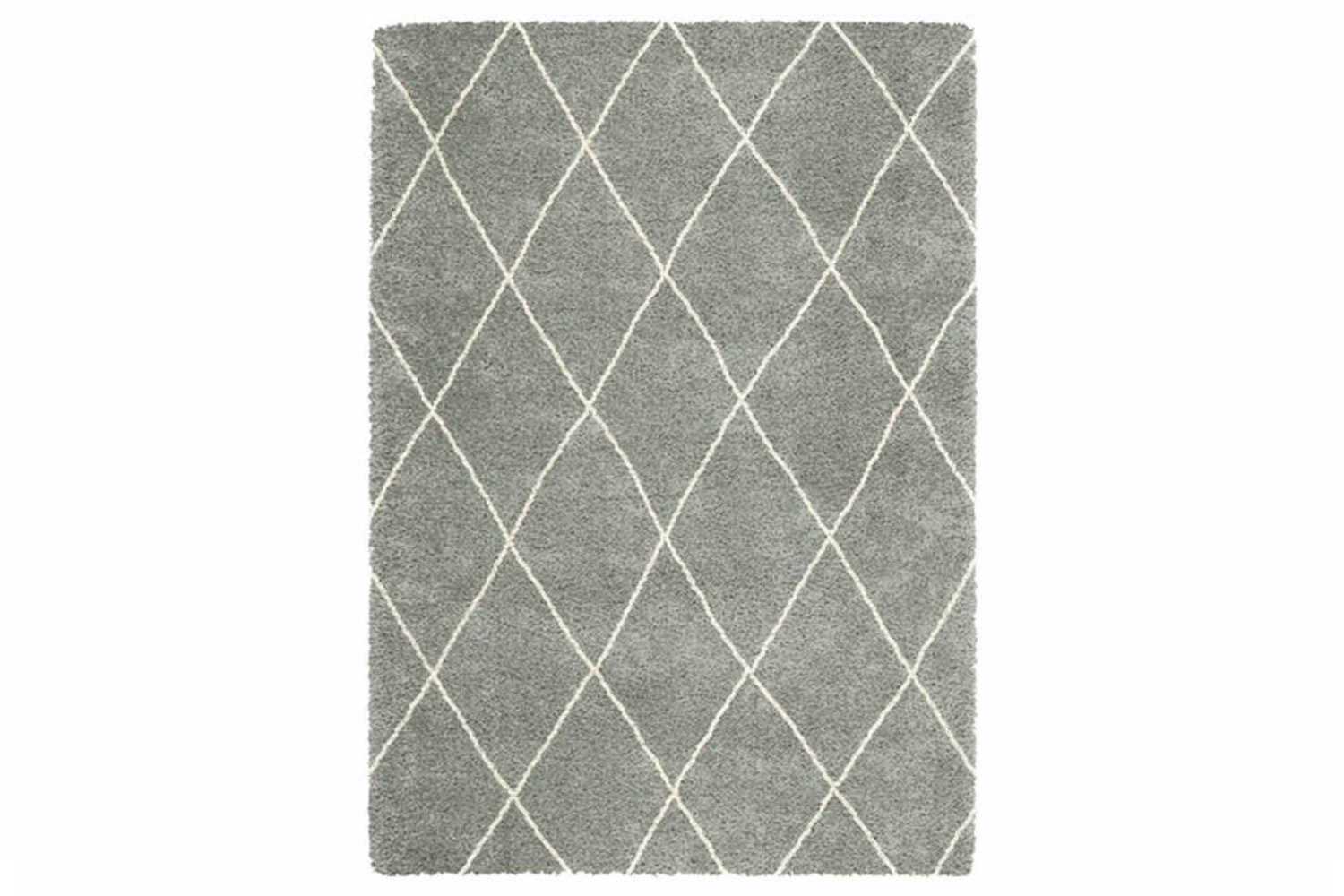 Logan | Grey White Lines Diamond 120X170