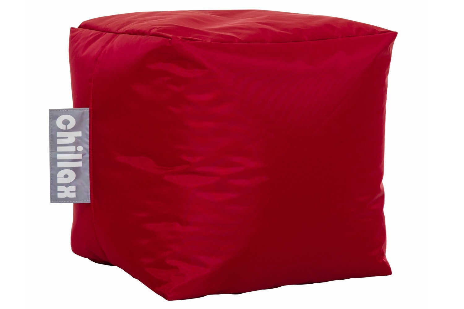 CHILLAX B/BAG CUBE STOOL RED