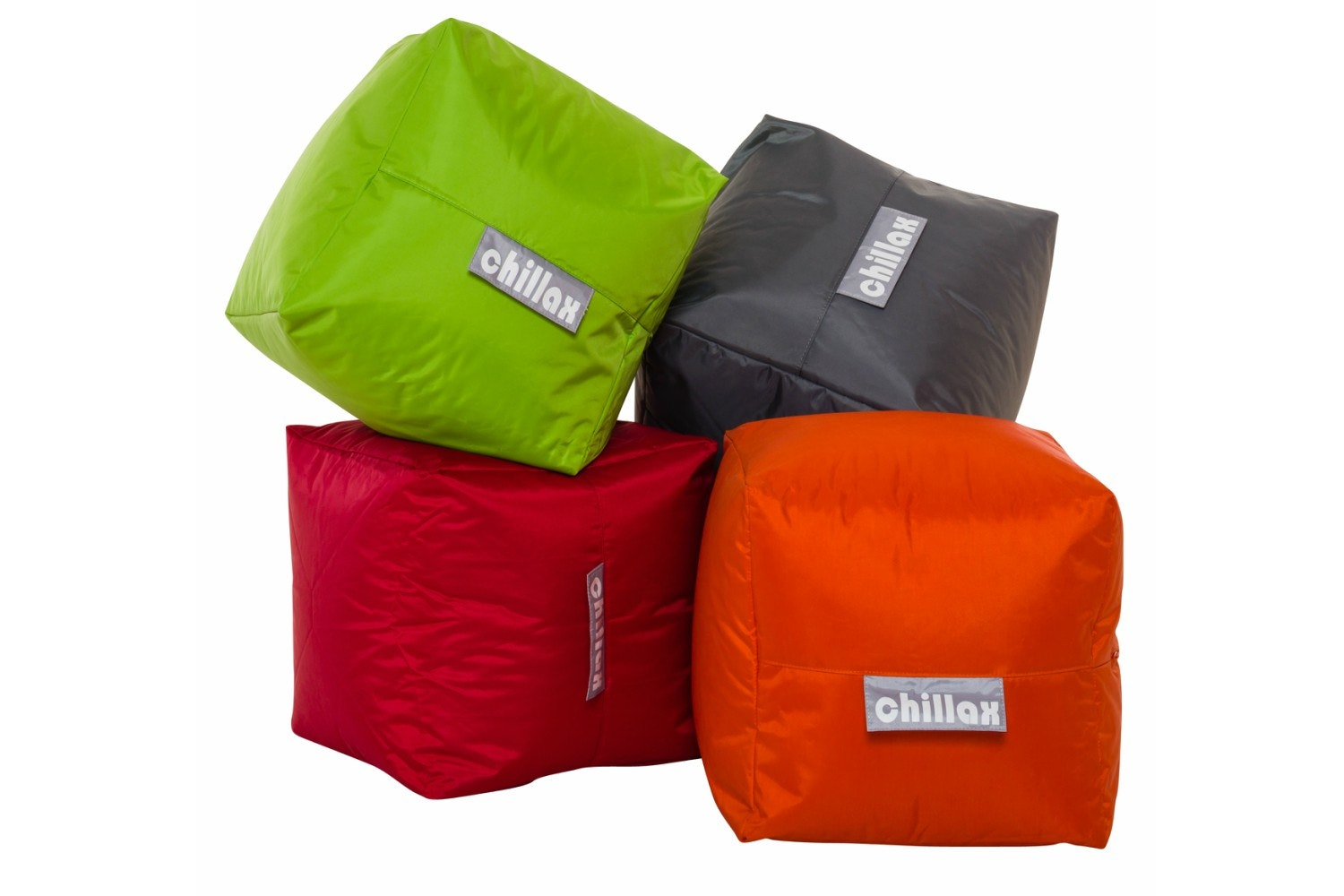 Chillax Cube Stool Bean Bag | Red