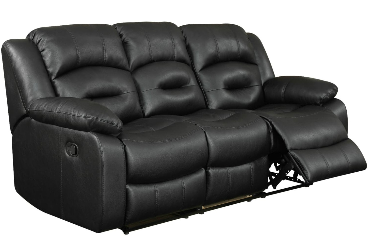 Hunter 3 Seater Recliner Sofa | Black