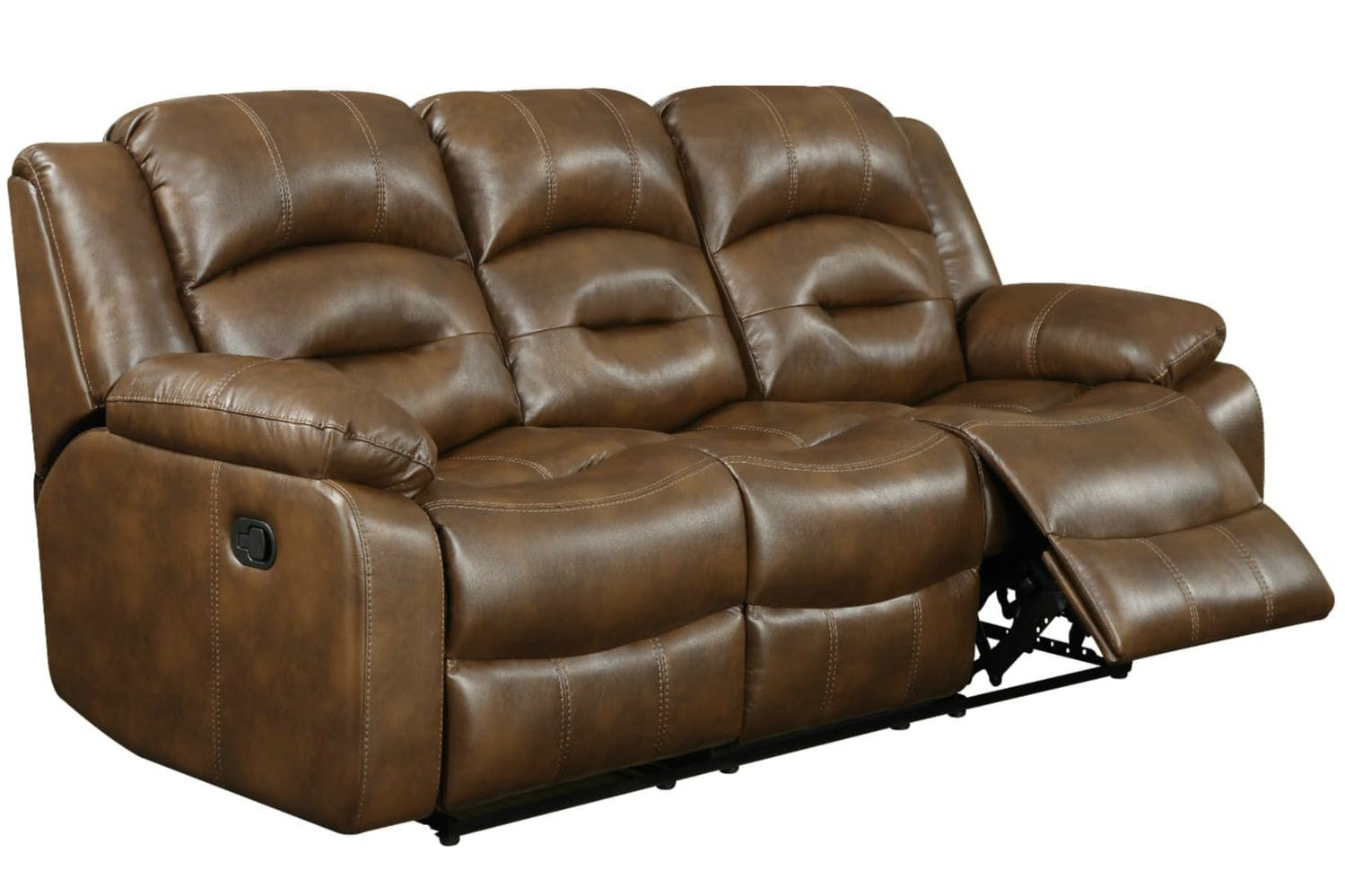 Hunter 3 Seater Recliner Sofa Tan