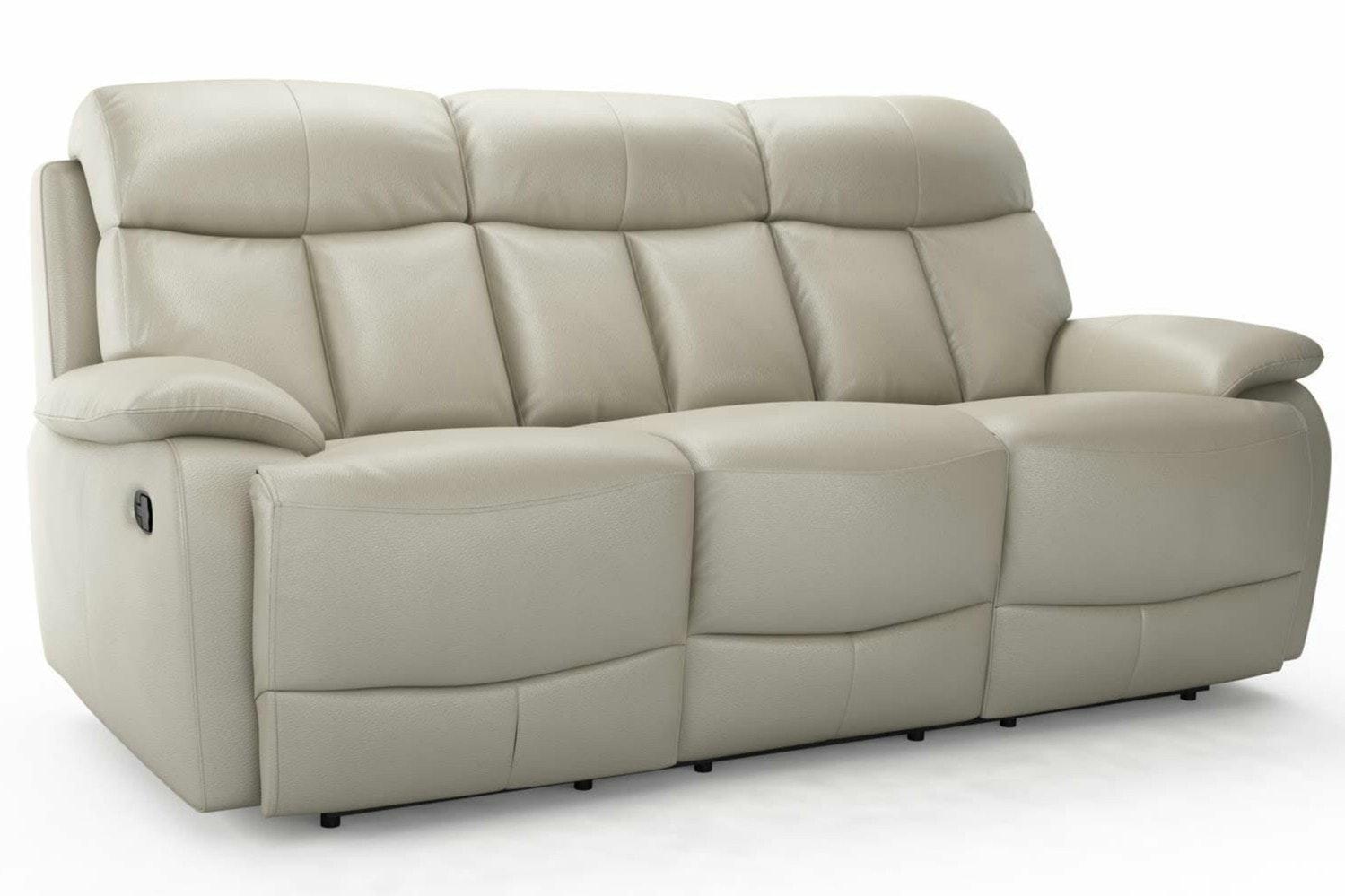 Seline 3 Seater Leather Recliner Sofa Ireland ~ Three Seater Recliner Sofa