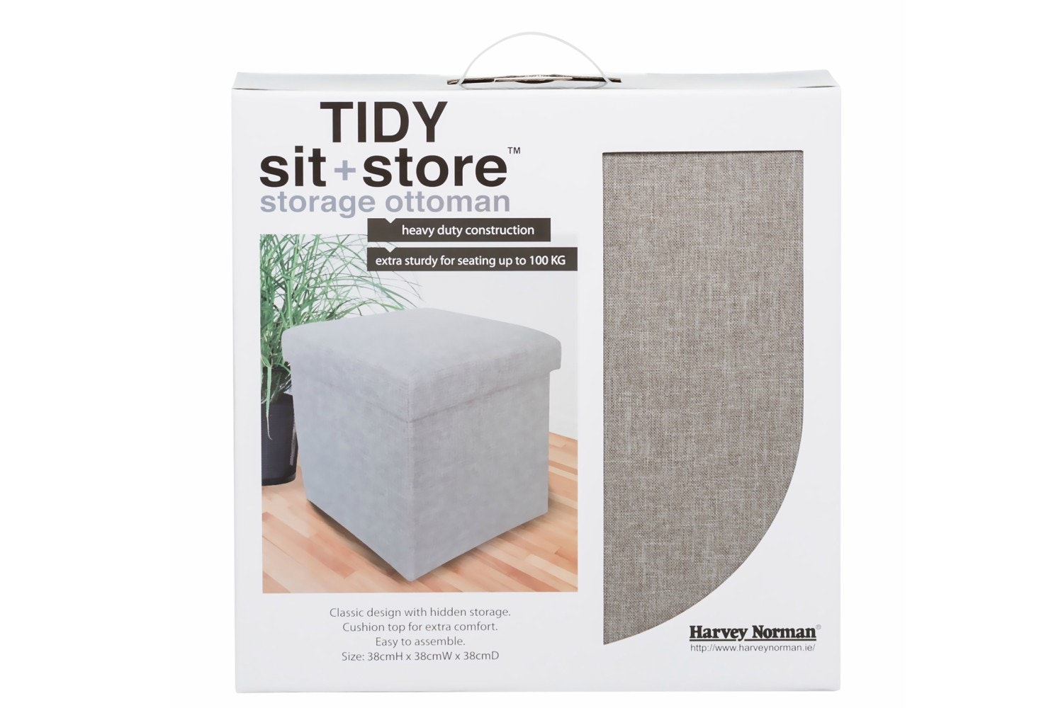 Tidy Sit & Store | Small Grey