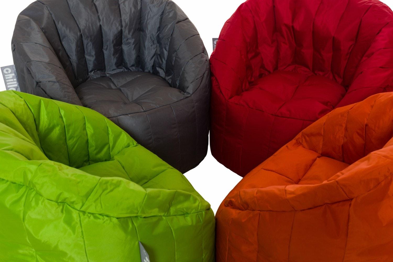 Chillax Kids Tub Chair Bean Bag   Grey