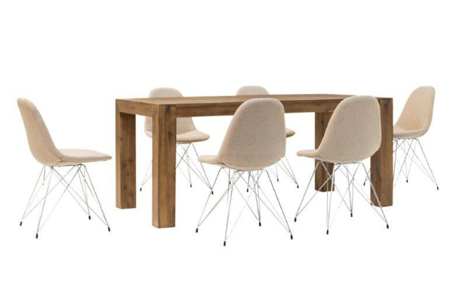Hamburg 7 Piece Set With Livia Chairs | Natural