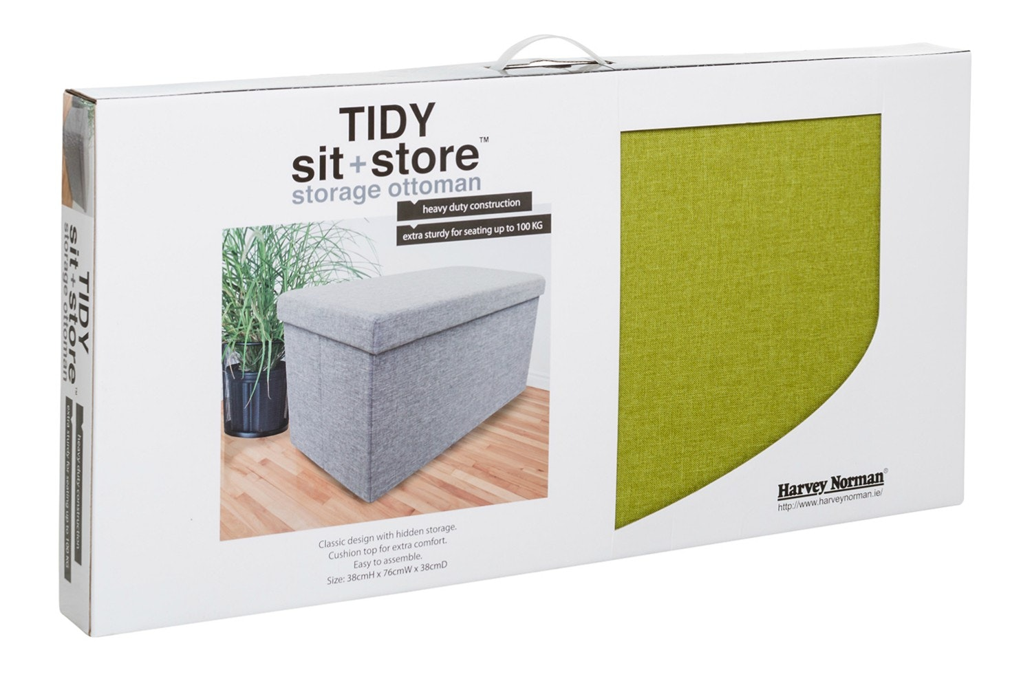 Tidy Sit & Store | Large Green