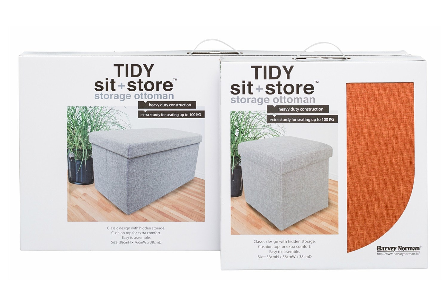 Tidy Sit & Store | Small Orange