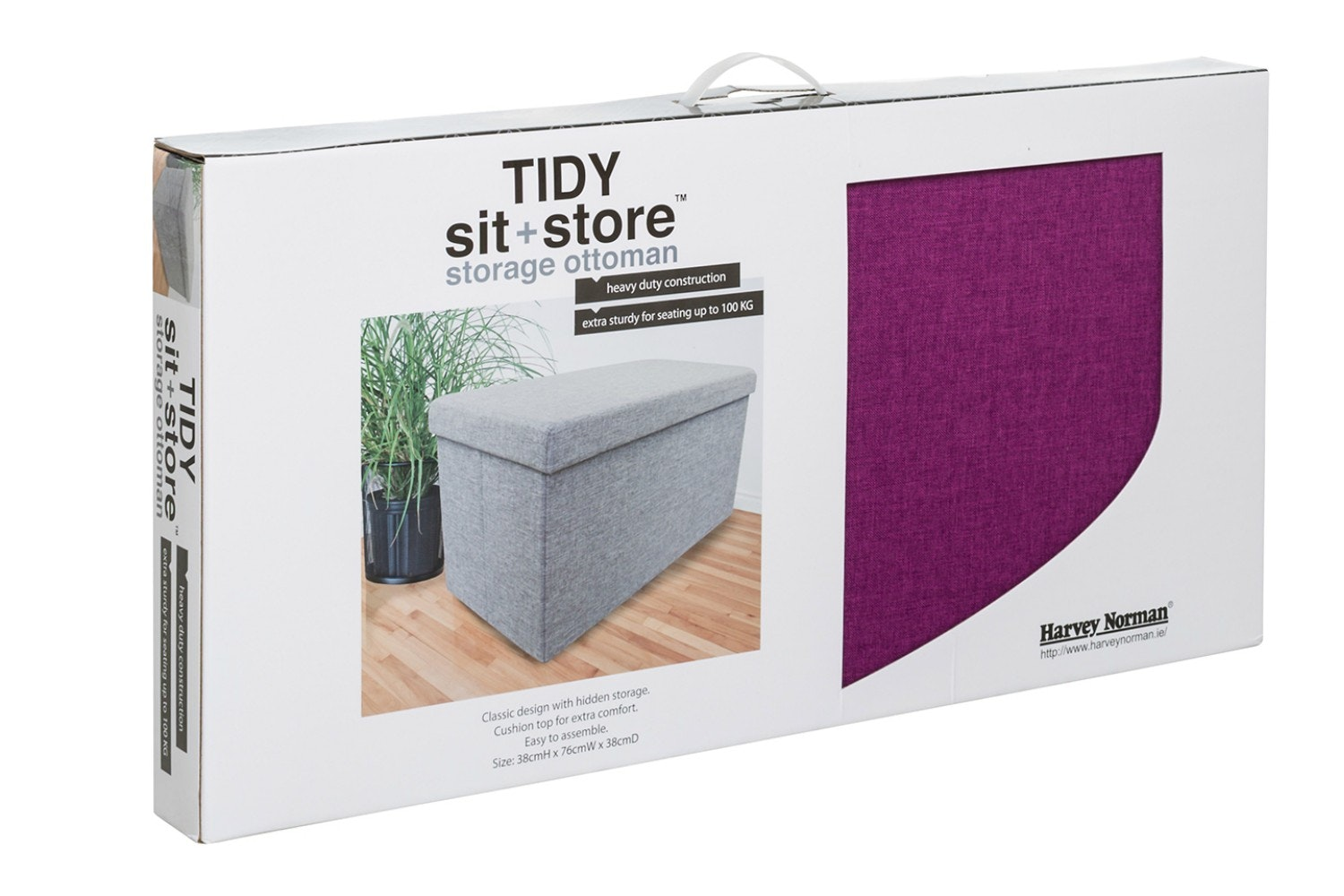 Tidy Sit & Store | Large Purple