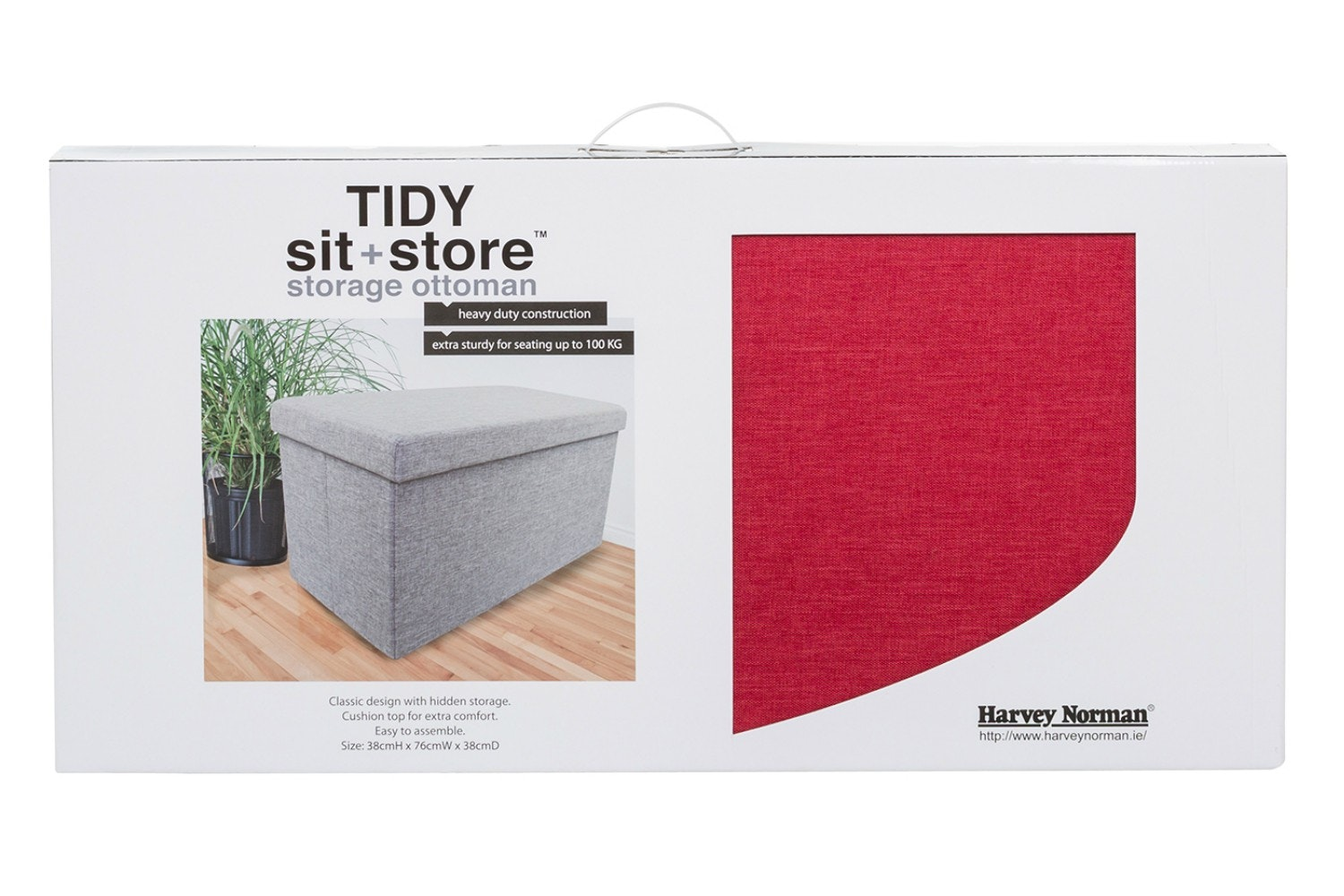 Tidy Sit & Store | Large Red