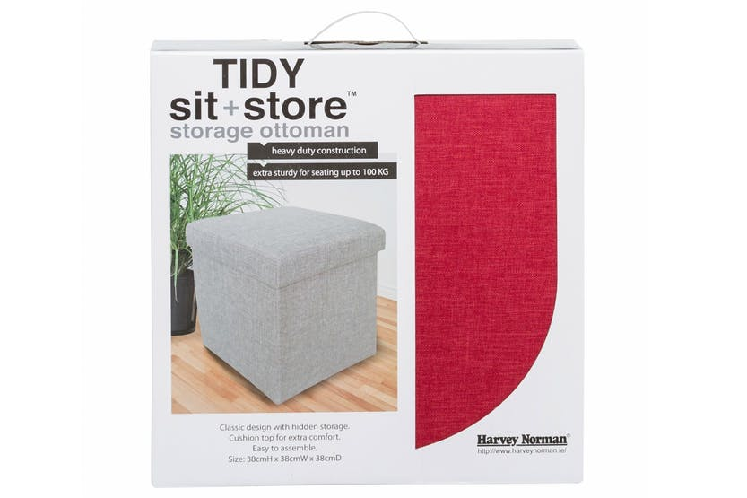 Tidy Sit & Store | Small Red