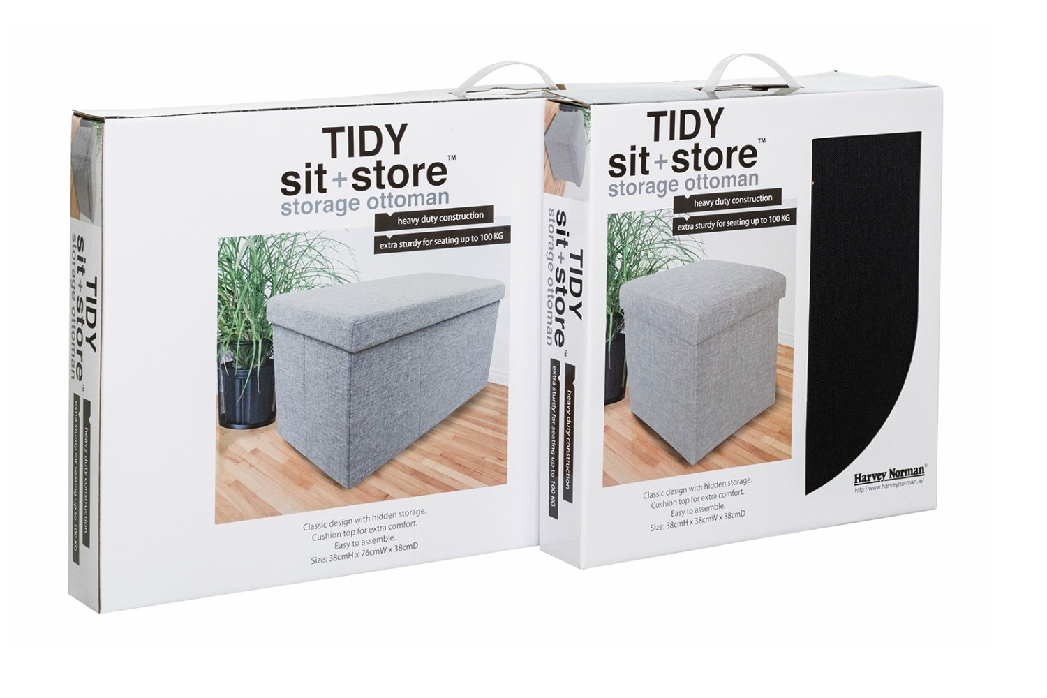 Tidy Sit & Store | Small Black