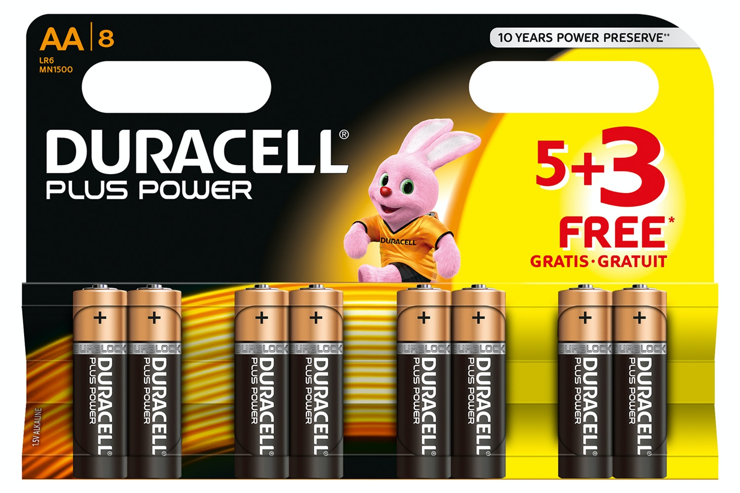 Duracell AA 5+3 Pack Batteries