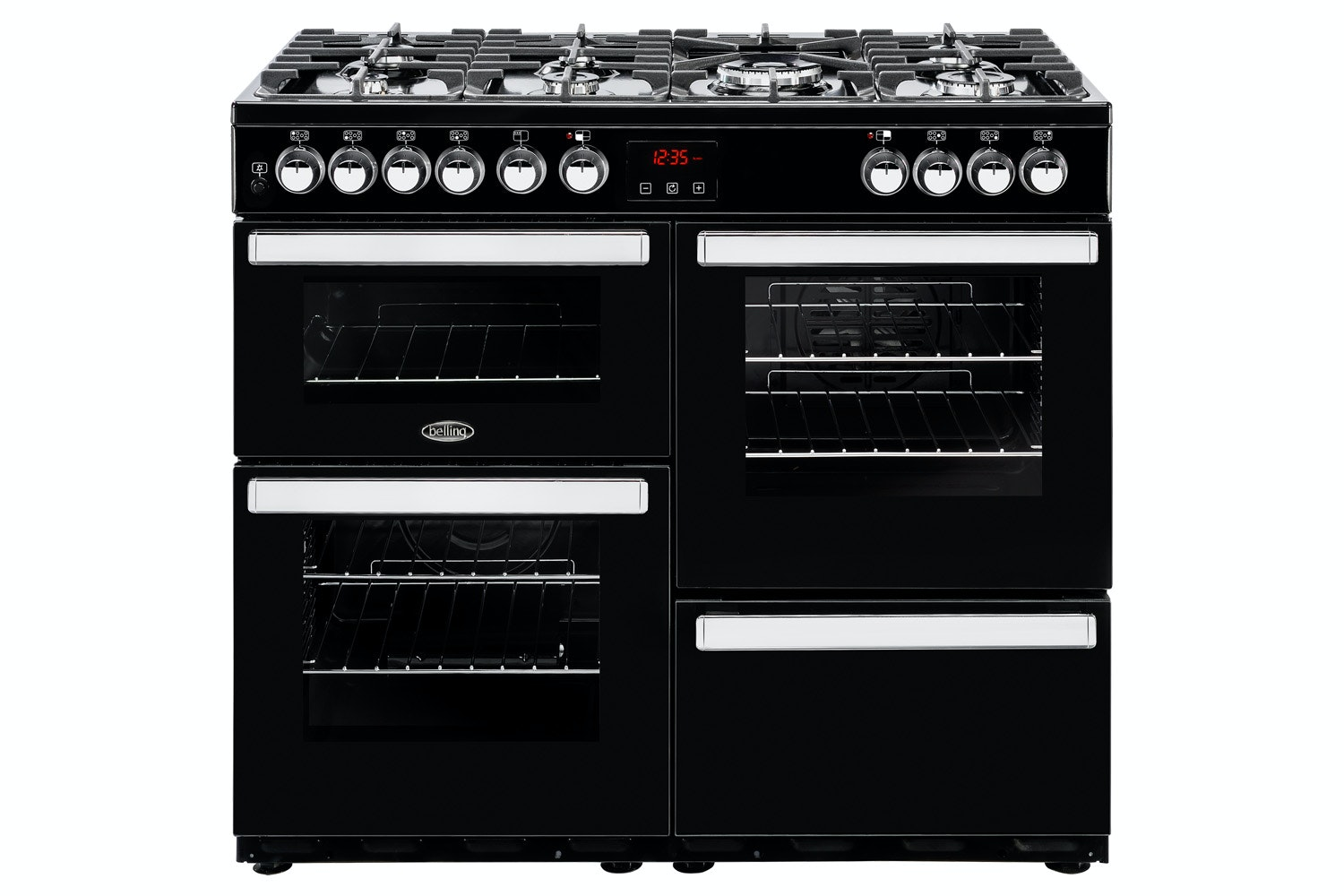 Belling Cookcentre 100cm Dual Fuel Range Cooker | 100DFTBLK