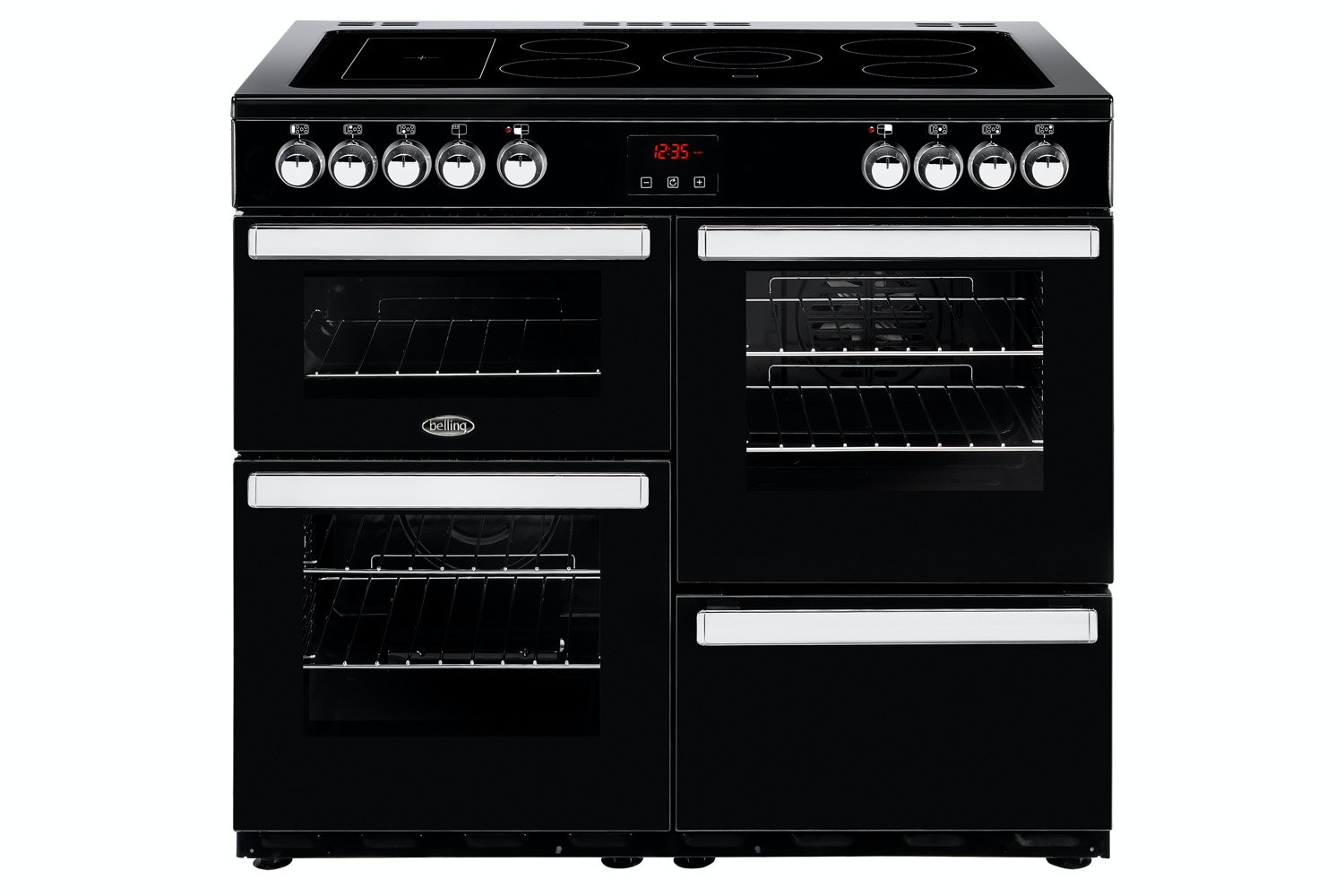 Belling Cookcentre 100cm Electric Range Cooker | 100EBLK | Black