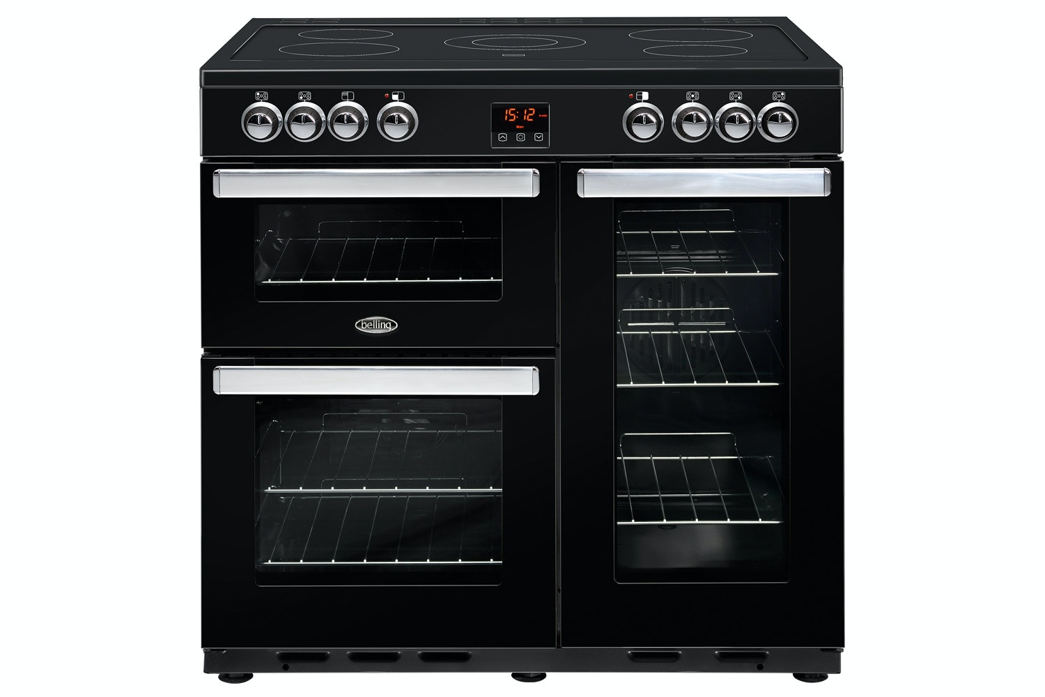 Belling Cookcentre 90cm Electric Range Cooker | 90EBLK