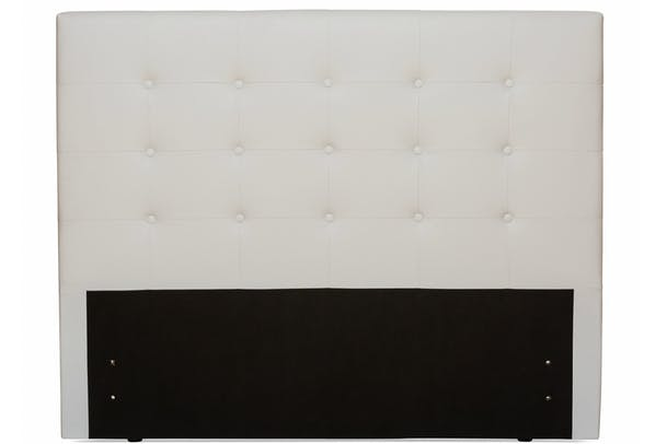 Duval Headboard | Tufted Button | White | 6ft