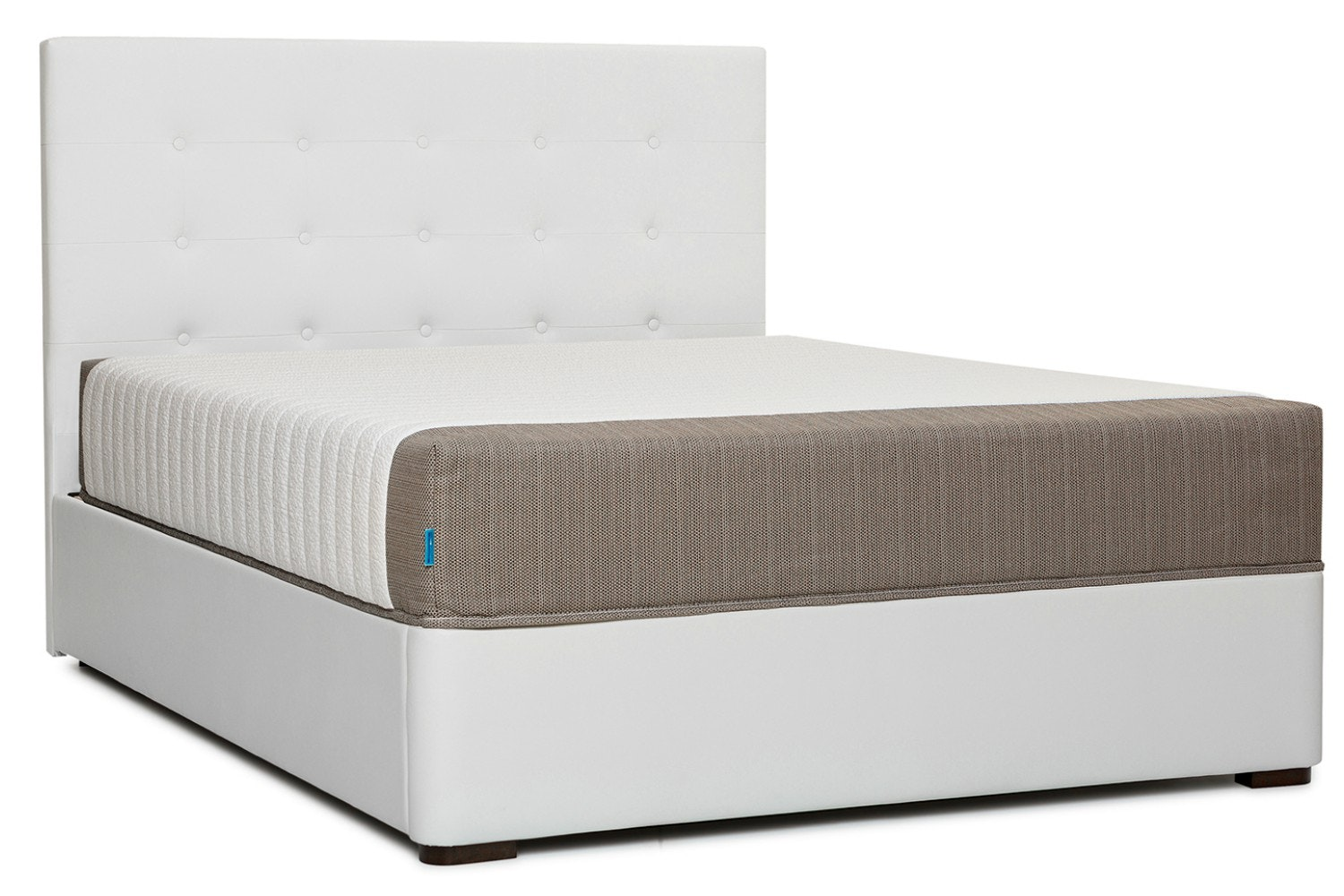 Duval Bed | Tufted Button | White | 6ft