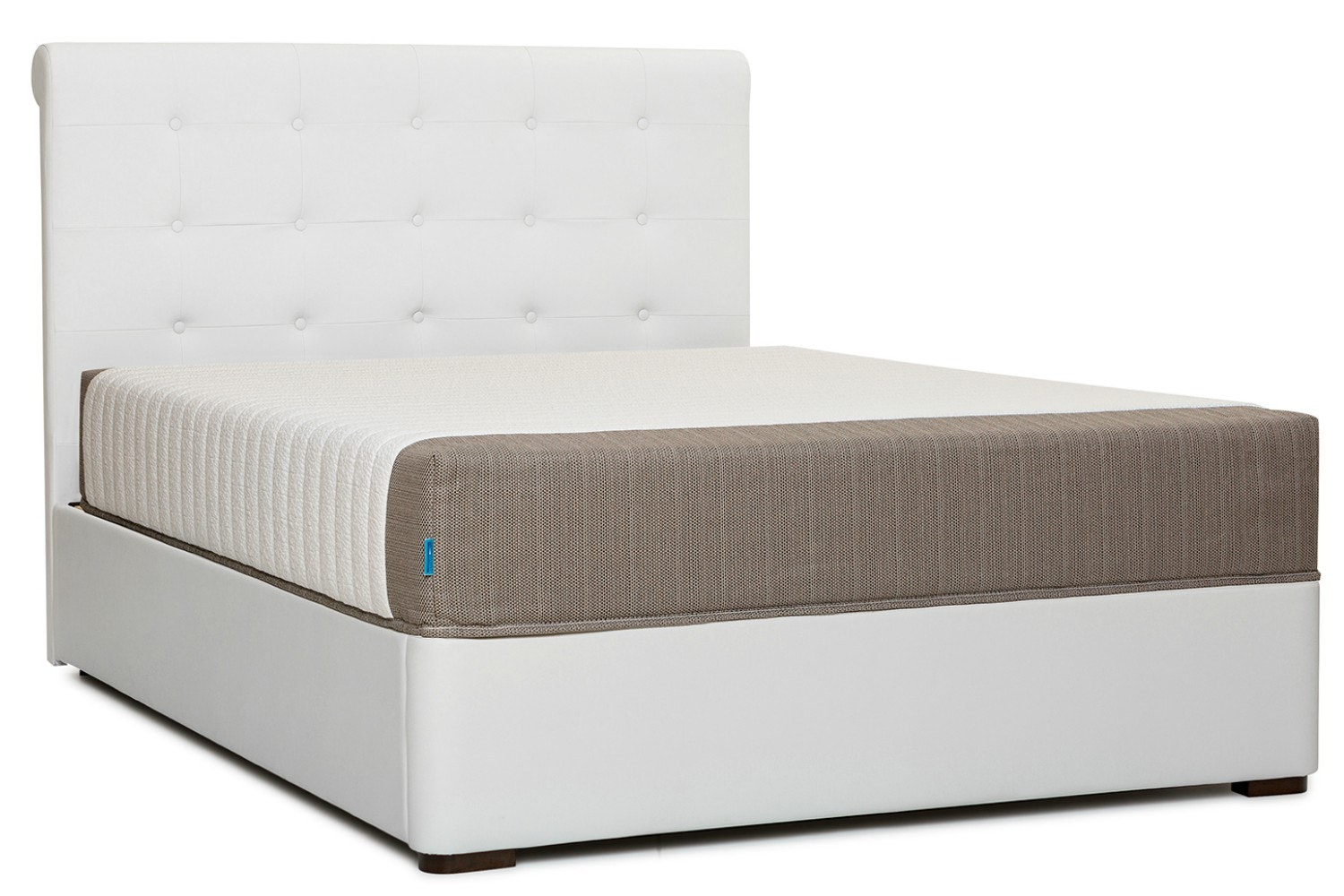 Duval Bed | Scroll Top | White | 5ft