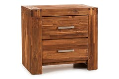 Kenny Bedside Locker | 2 Drawer | Brushed Cognac