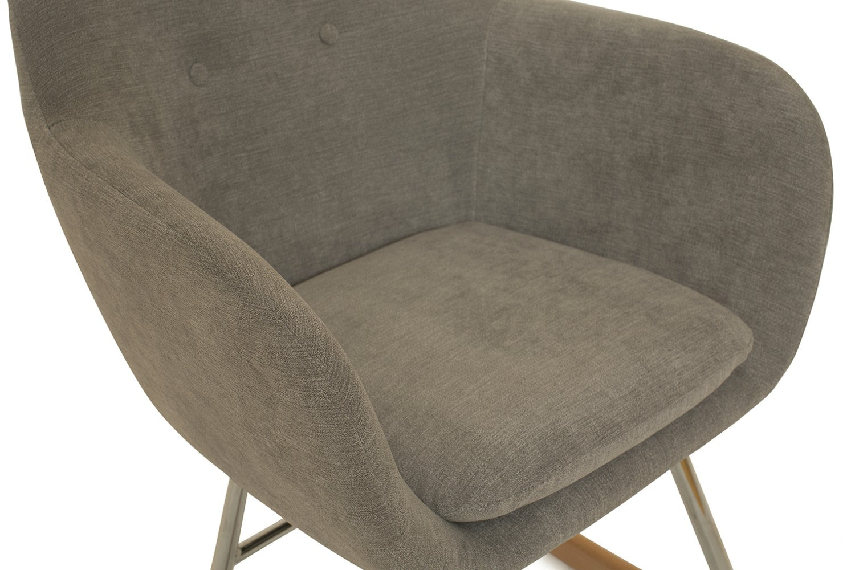 Emilia Bedroom Rocker Armchair  | Grey