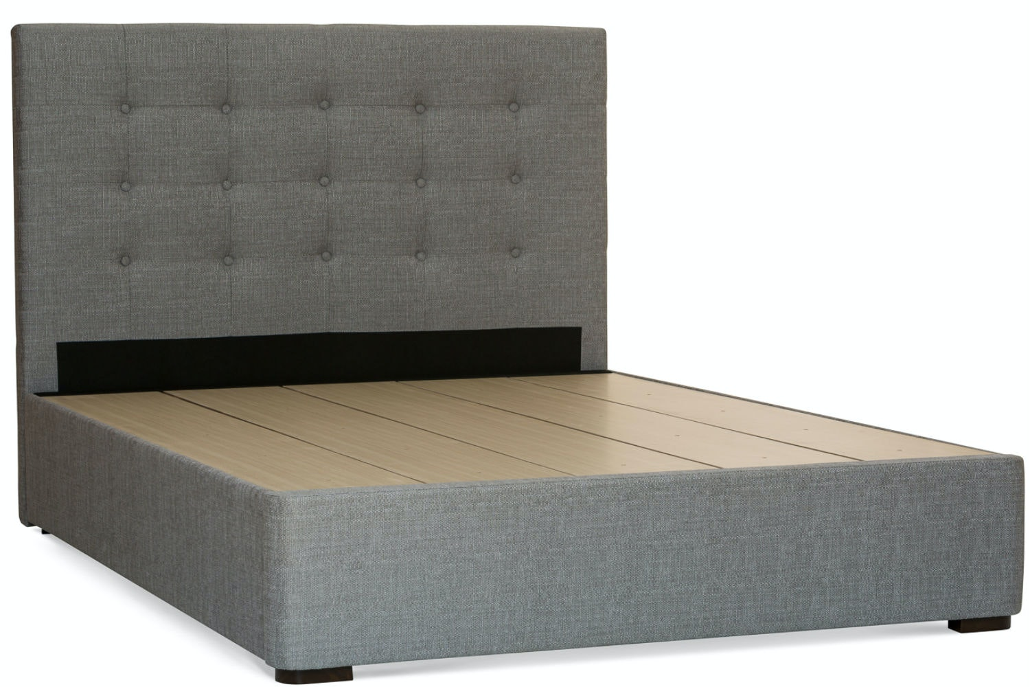 Duval Bed | Tufted Button | Grey | 4ft6