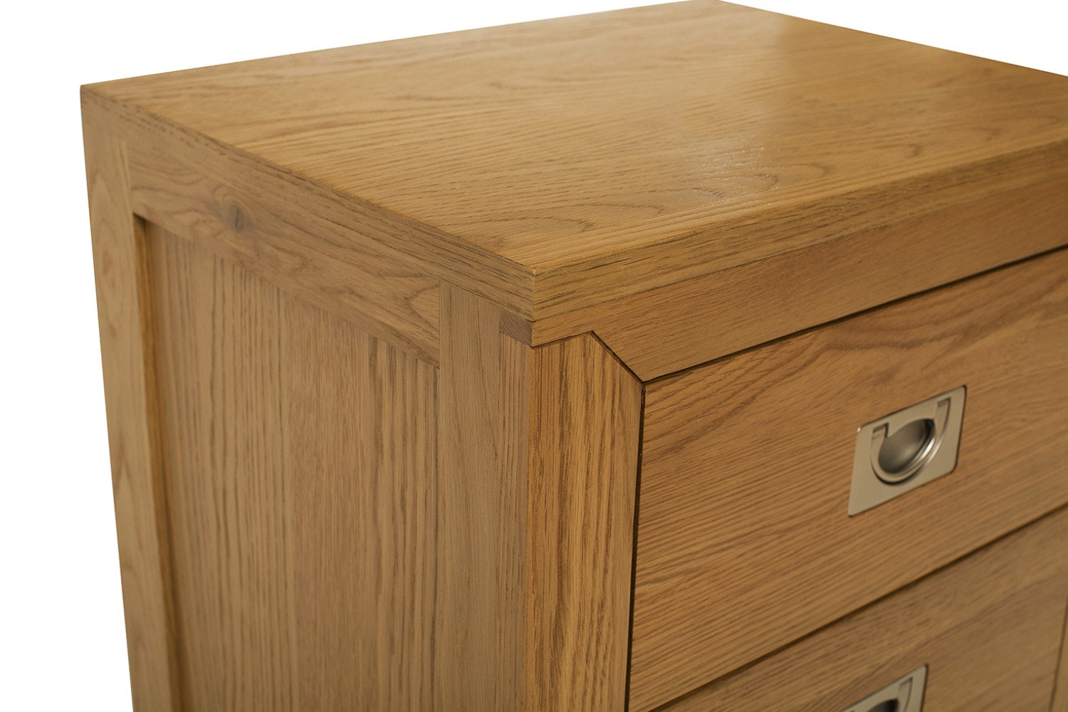 Arrington 3 Drawer Bedside Table | Oak
