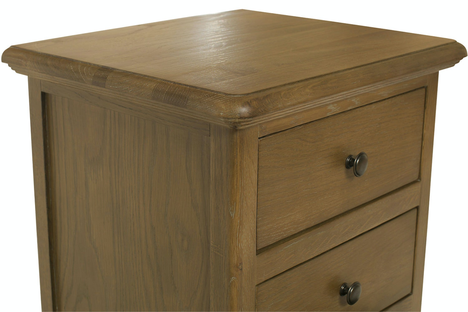 Florence 3 Drawer Bedside Locker | Vintage Oak