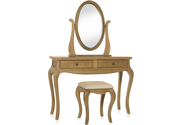 Florence Oval Dresser Mirror | Vintage Oak