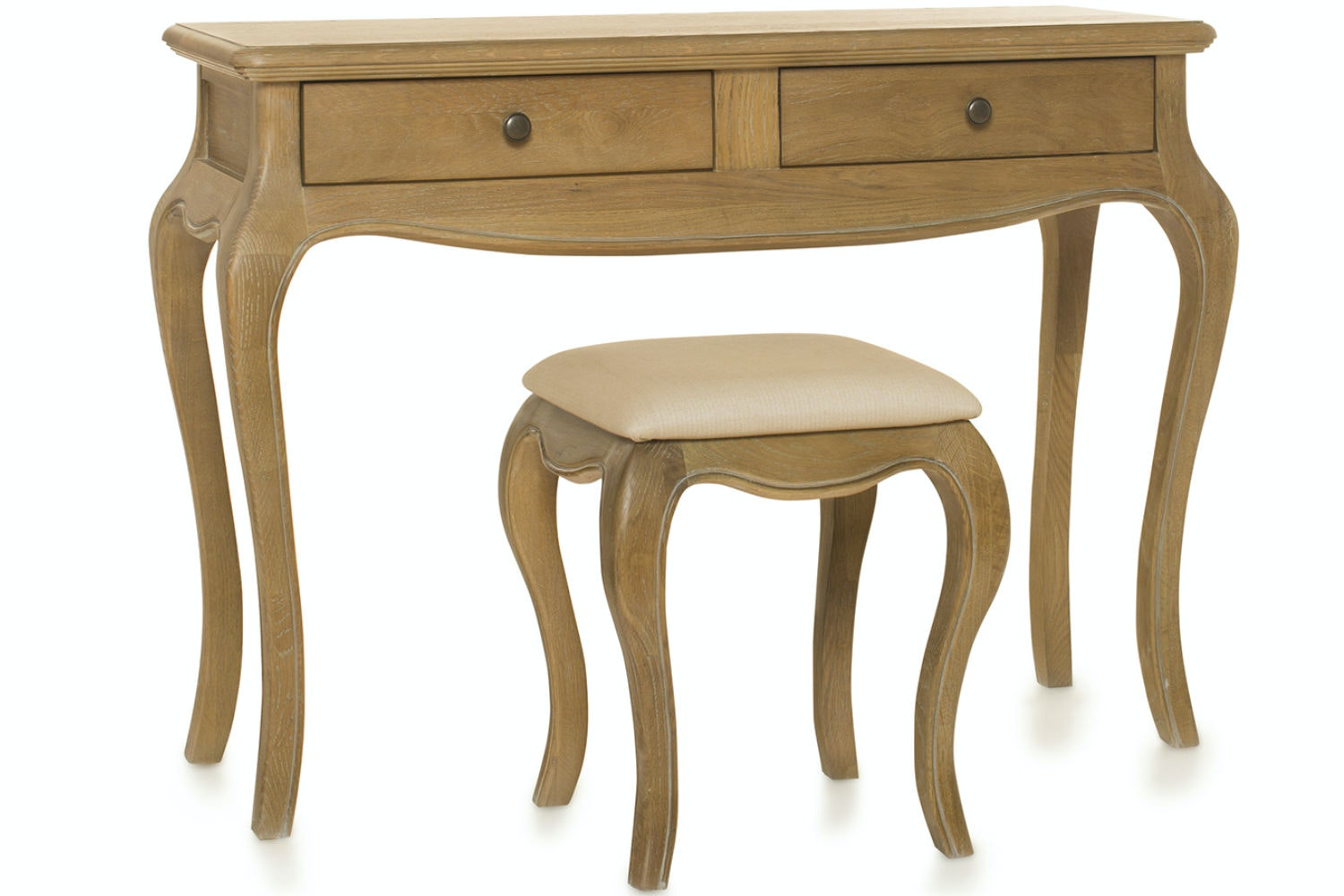 Florence Dressing Table and Stool | Vintage Oak