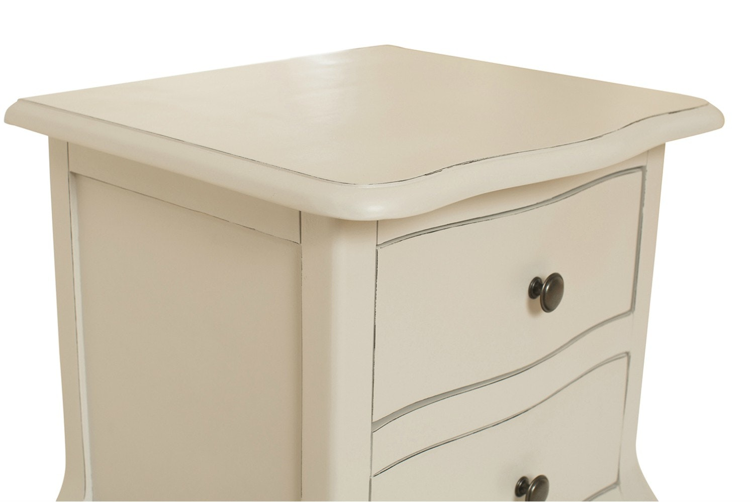 Harrogate Bedside |2 Drawer | Antique Grey