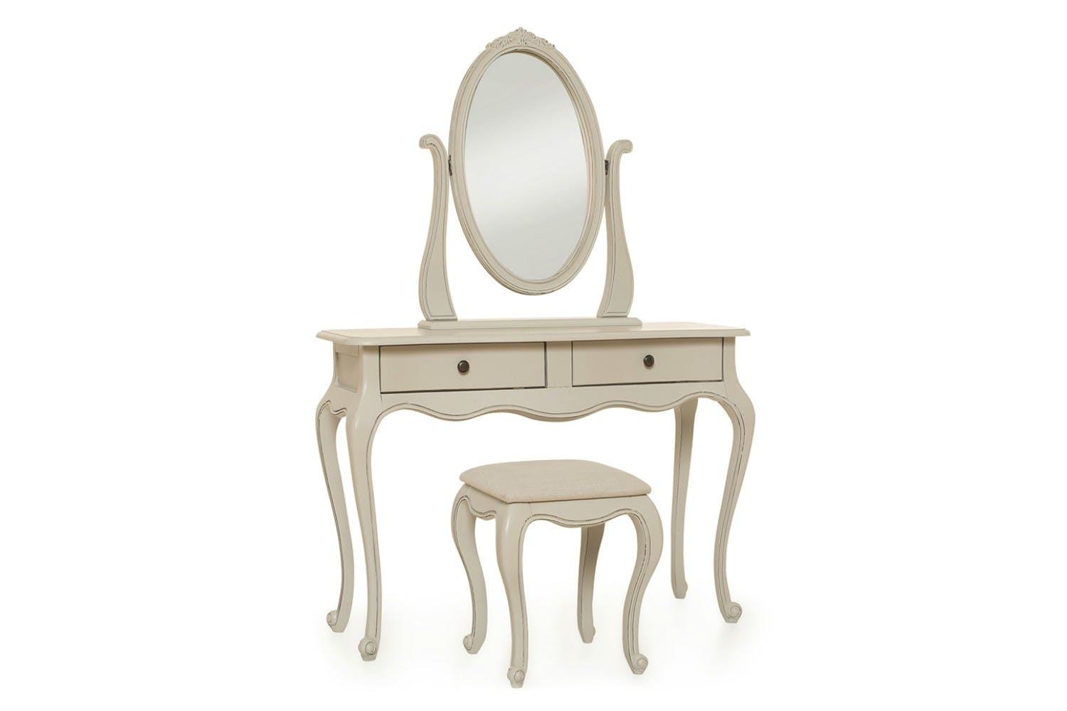Harrogate Dressing Table with Mirror & Stool