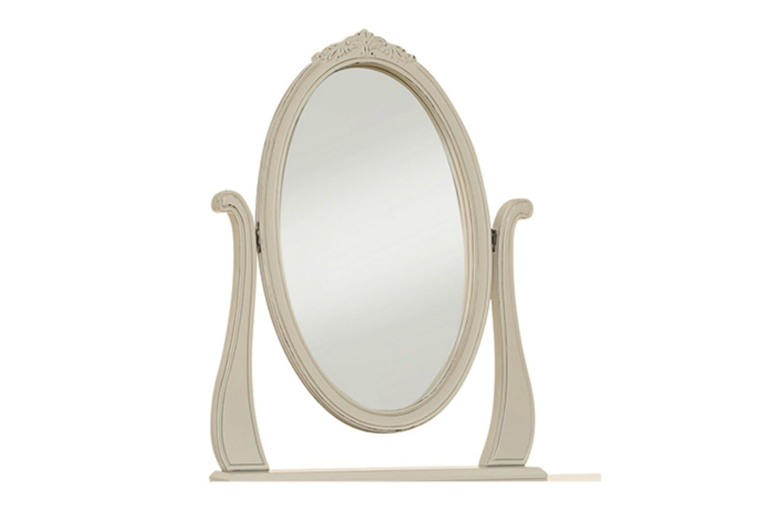 Harrogate Oval Mirror | Antique Grey