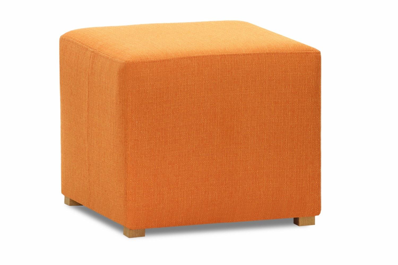 Pufa Bedroom Stool Cube | Portland Orange