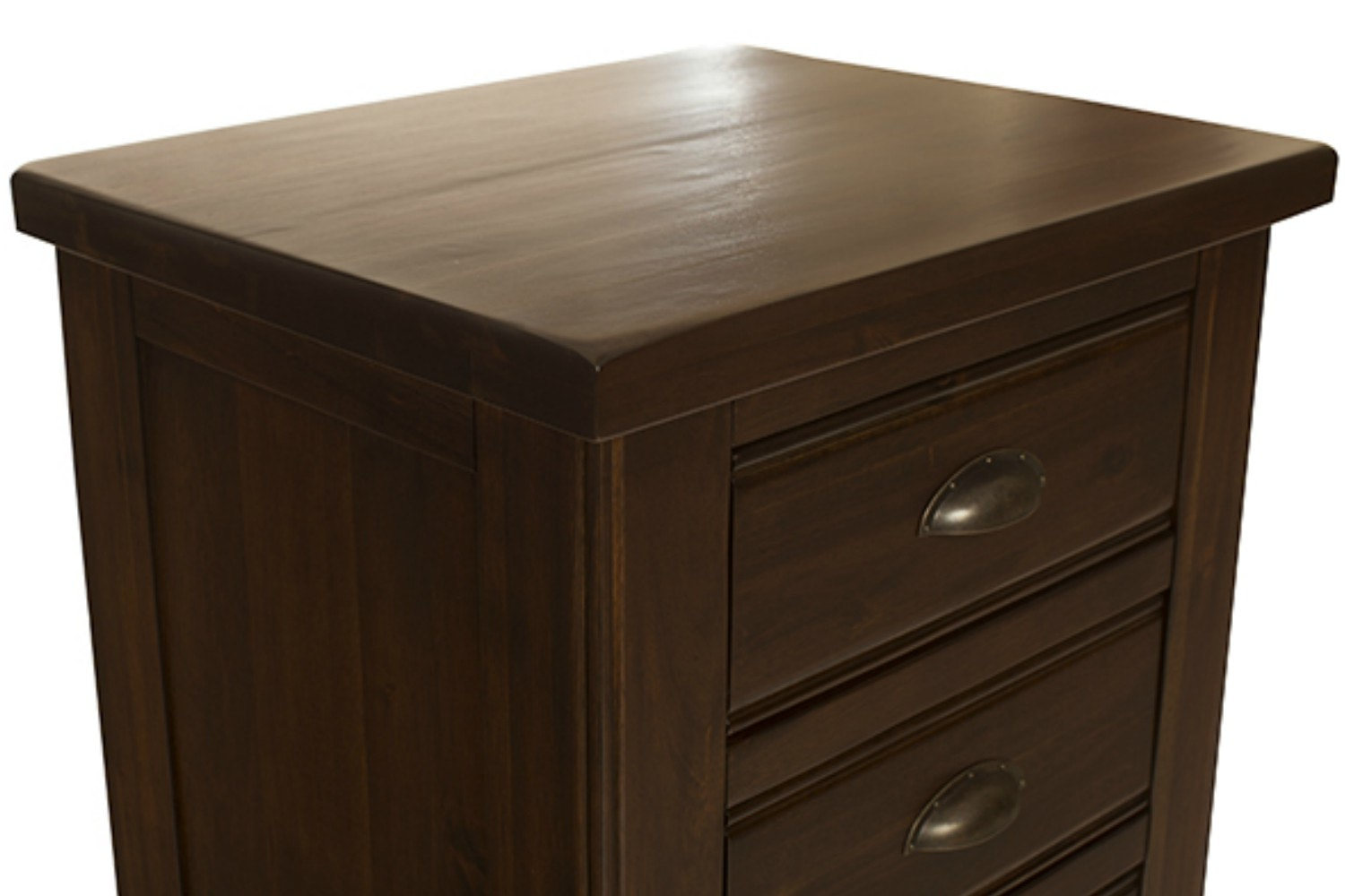 Wellington Bedside|Walnut| 3 Drawers