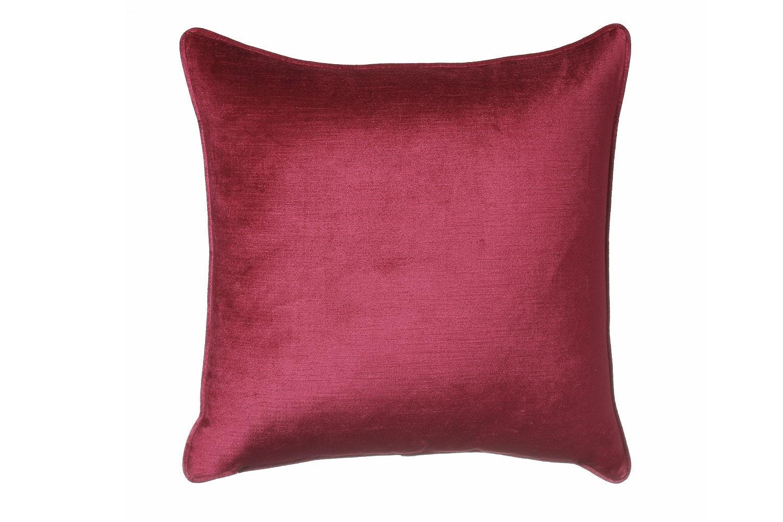 Scatter Box Velvet Sheen Duo Cushion| 45cm | Red & Grey