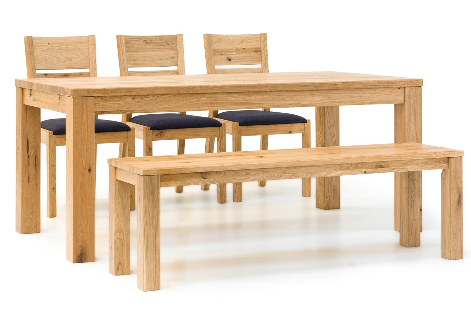 Jensen Dining Set | 5 Piece | 3 Chairs and Bench