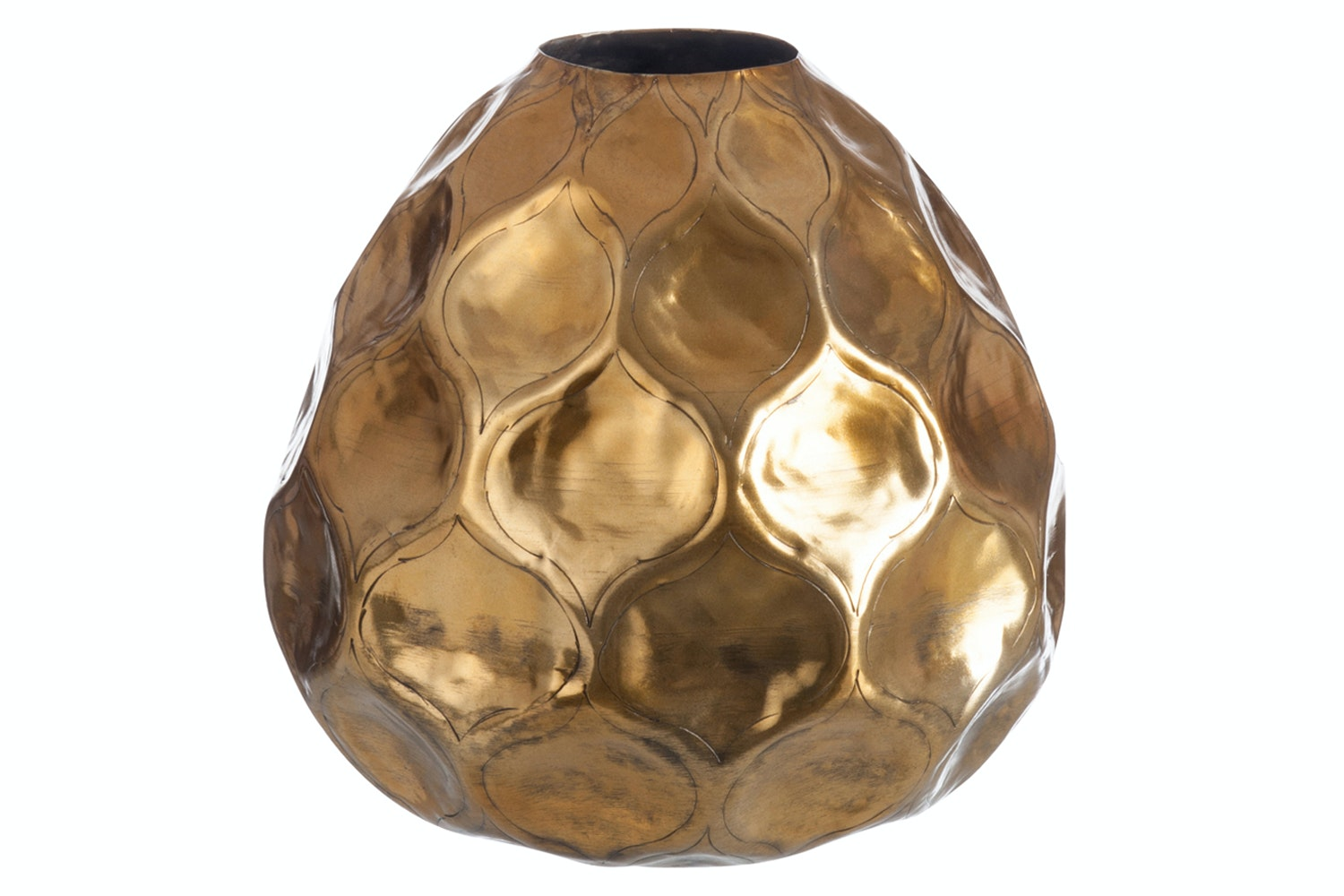 Hammered Gold Vase