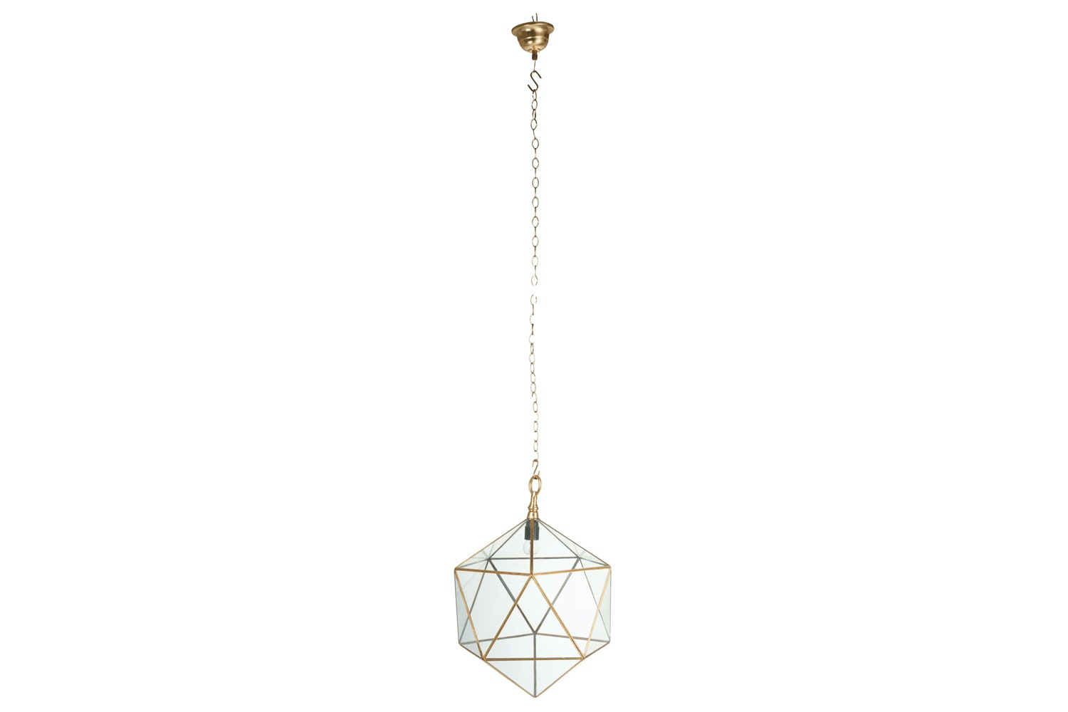 Geometric Gold Ceiling Light