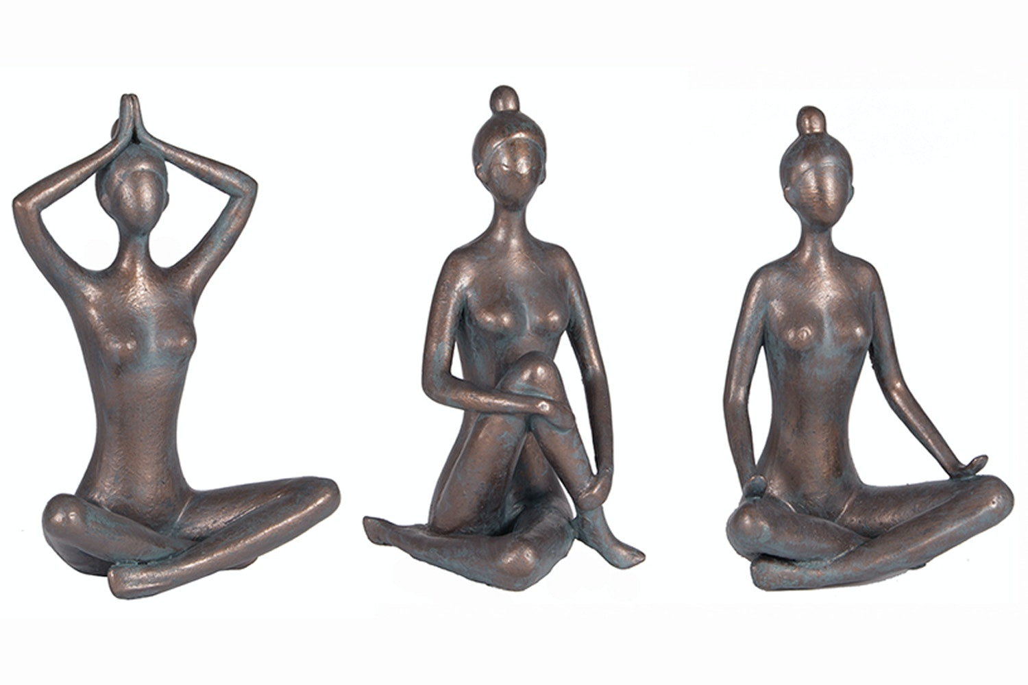 Antique Bronze Yoga Figures