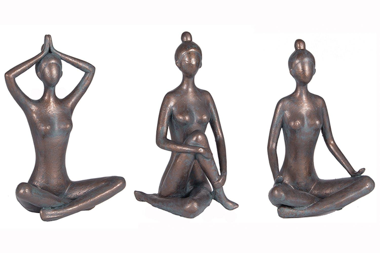 Antique Bronze Yoga Figures
