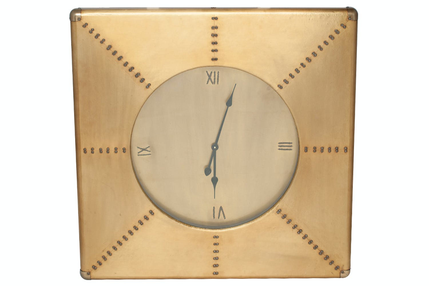 Brass Square Wall Clock