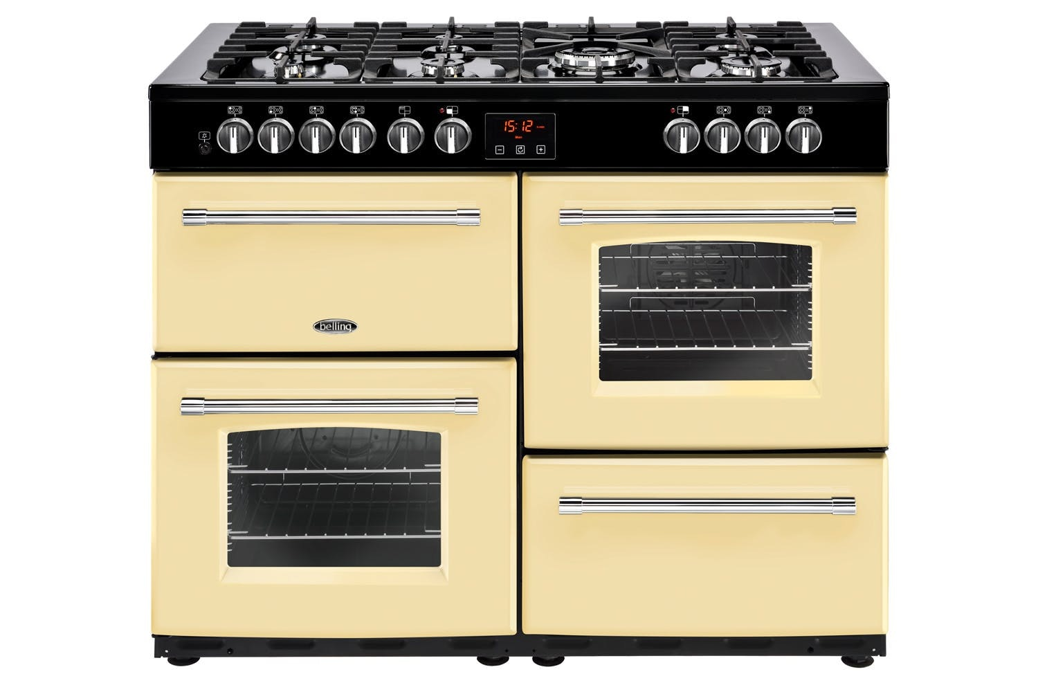 Belling Farmhouse Dual Fuel  110cm Range Cooker | FH110DFTCR