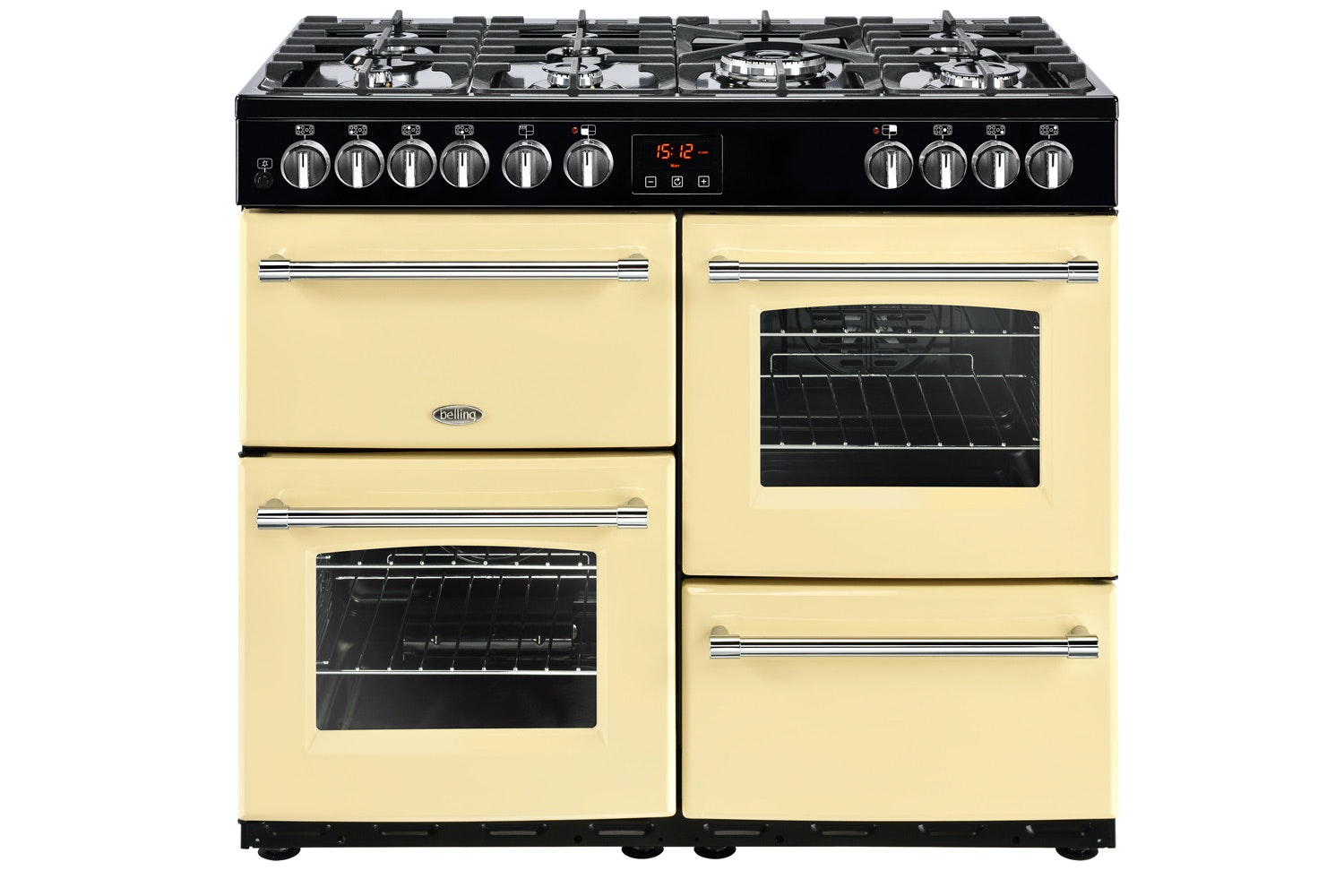 Belling Farmhouse 100cm Dual Fuel Range Cooker | FH100DFTCR | Red