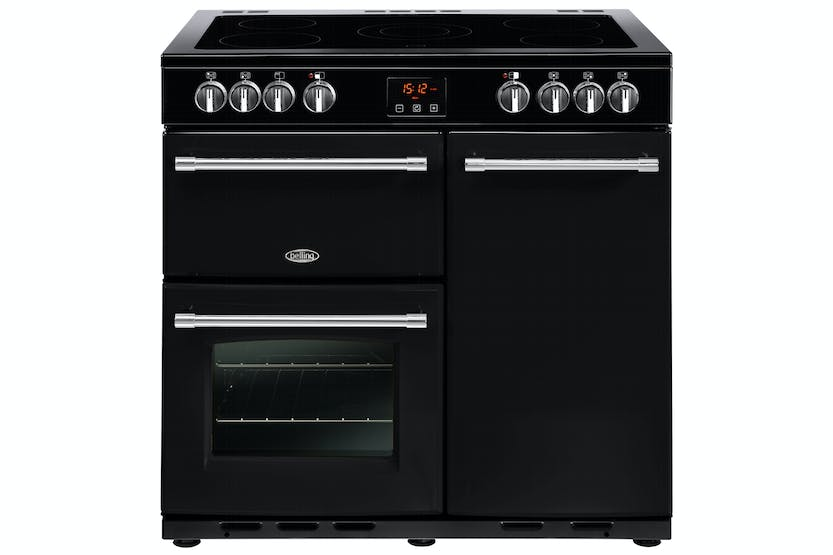 Belling Farmhouse 90cm Electric Range Cooker | FH90EBK | Black
