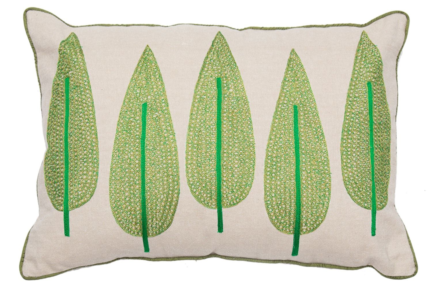 Maderas Embroidered Green Trees