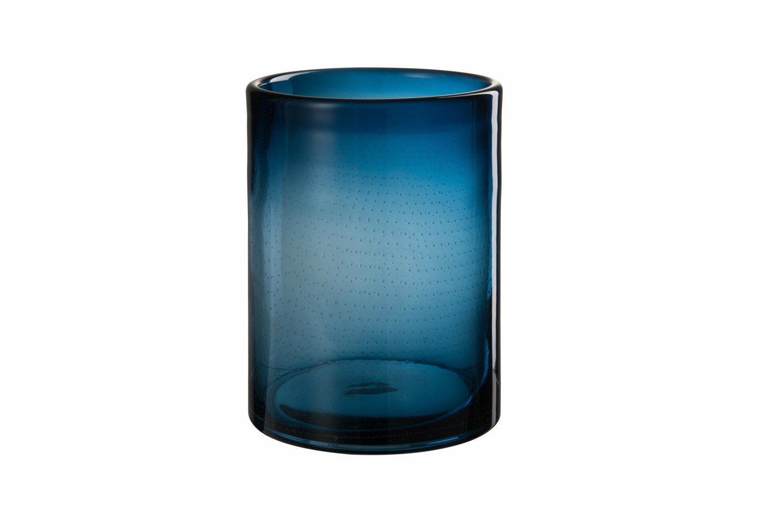 Glass Candle Holder | Large | Indigo Blue