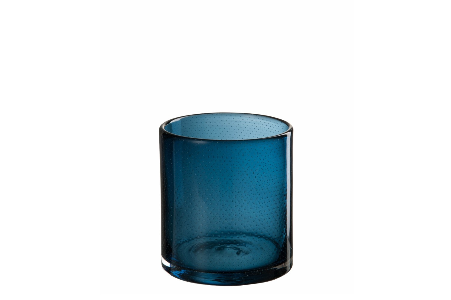 Glass Candle Holder | Medium | Indigo Blue