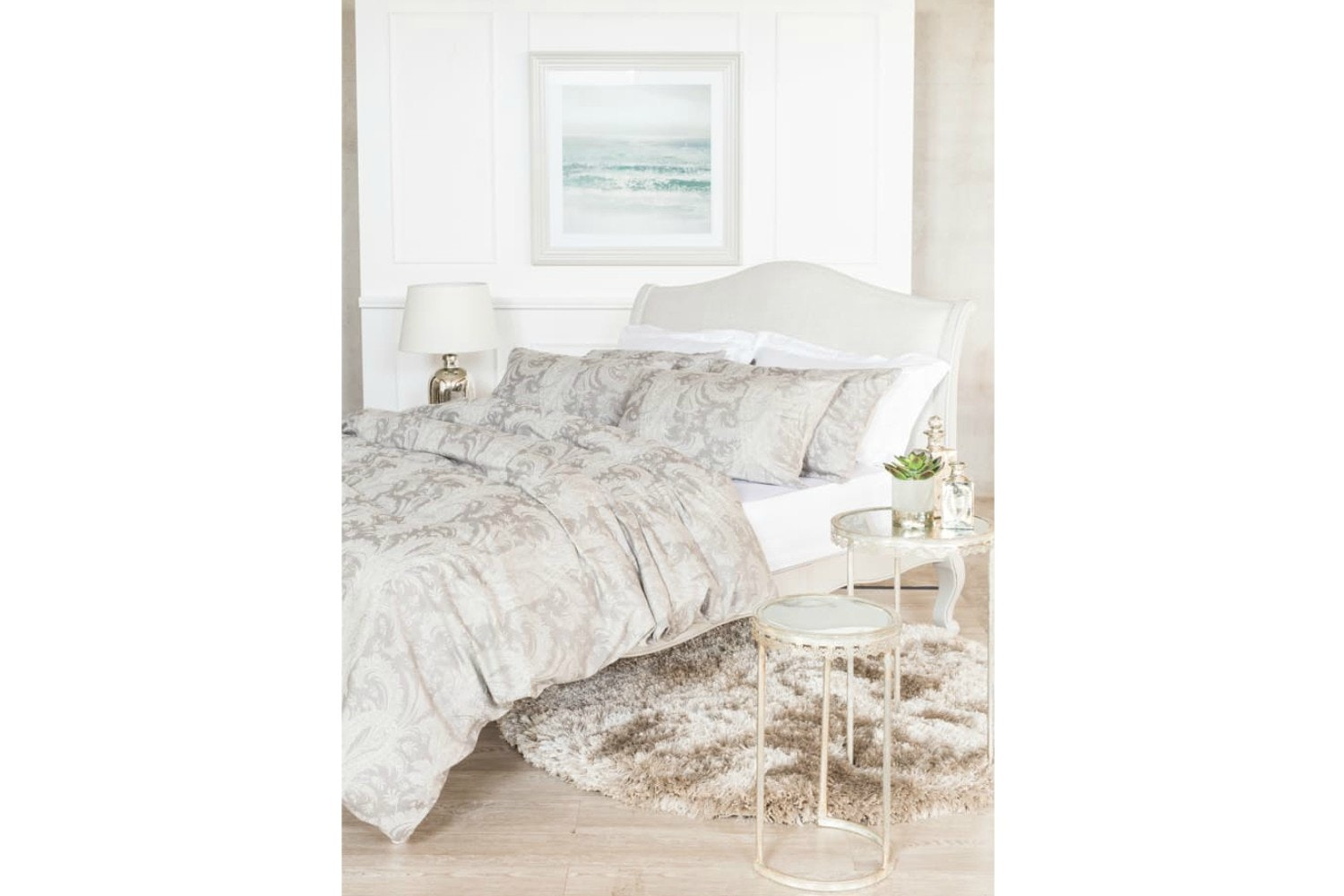 The Linen Room Damask Duvet Cover Set | Super King